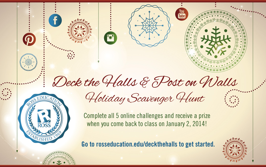 Ross Education's Deck The Halls & Post On Walls