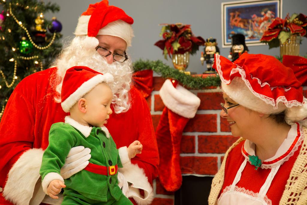 Santa Claus visits Ross Medical in Morgantown